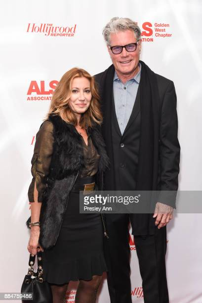 Catina Delish and Steve Redenbaugh attend ALS Golden West Chapter Hosts Champions For Care And A Cure at The Fairmont Miramar Hotel Bungalows on...