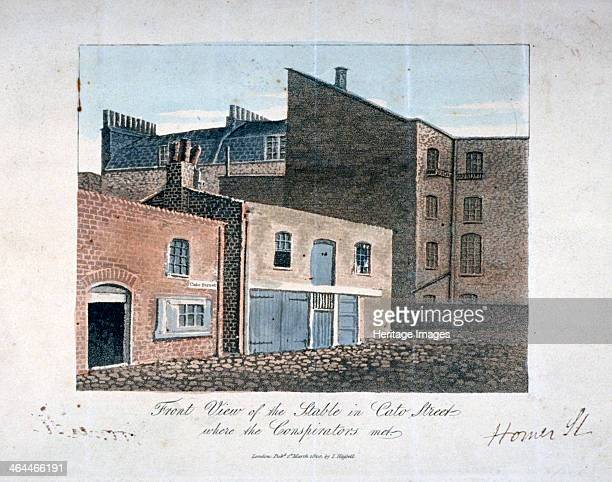 Cato Street conspiracy 1820 Front view of the stable in Cato Street Marylebone London where Arthur Thistlewood an his fellow conspirators met to plot...