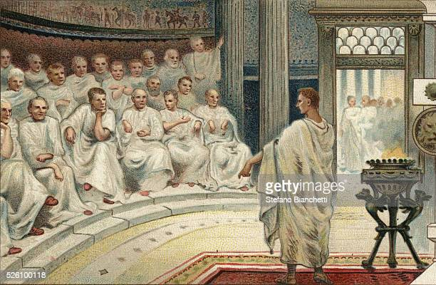 Cato was known for ending his speeches with the expression Carthago delenda est Illustration from the end of the 19th century