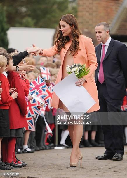Catrherine Duchess Of Cambridge visits Naomi House on April 29 2013 in Hampshire England