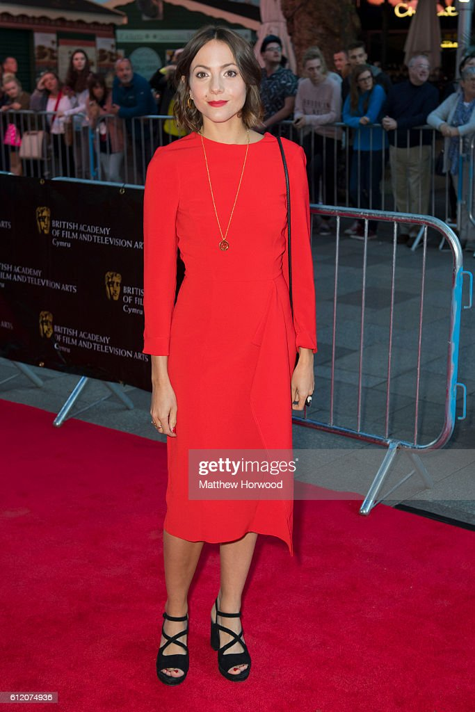 Catrin Stewart arrives for the 25th British Academy Cymru Awards at St David's Hall on October 2, 2016 in Cardiff, Wales.