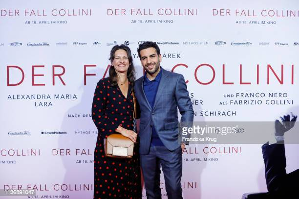 Catrin Striebeck and Elyas M'Barek during the Der Fall Collini premiere at Astor Filmlounge Hafen City on April 13 2019 in Hamburg Germany