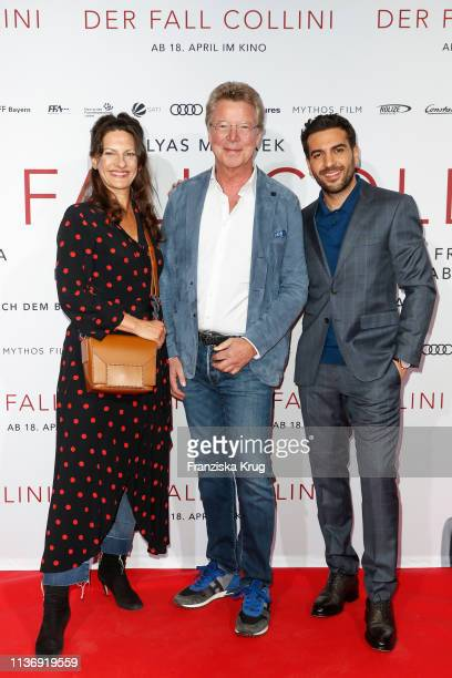 Catrin Striebeck HansJoachim Flebbe and Elyas M'Barek during the Der Fall Collini premiere at Astor Filmlounge Hafen City on April 13 2019 in Hamburg...