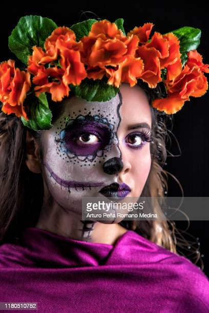 catrina, day of the dead. - la catrina stock photos and pictures