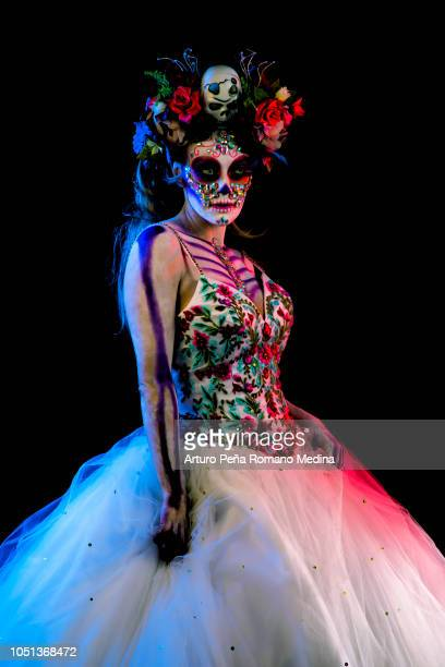 catrina - sugar skull stock photos and pictures
