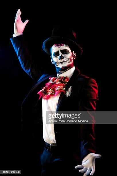 catrina show - sugar skull stock photos and pictures