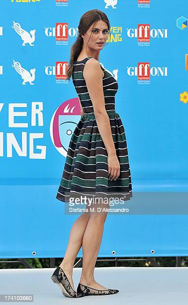 Catrinel Marlon attends 2013 Giffoni Film Festival photocall on July 20 2013 in Giffoni Valle Piana Italy