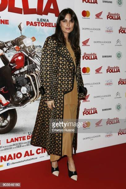Catrinel Marlon attends 'Benedetta Follia' photocall on January 10 2018 in Rome Italy