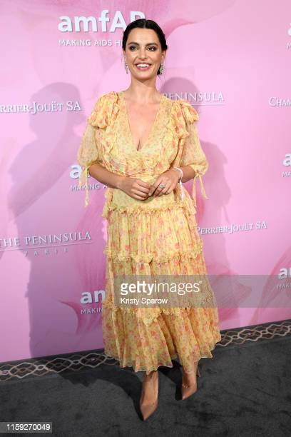 Catrinel Marlon attends the Amfar Gala At The Peninsula Hotel In Paris on June 30 2019 in Paris France