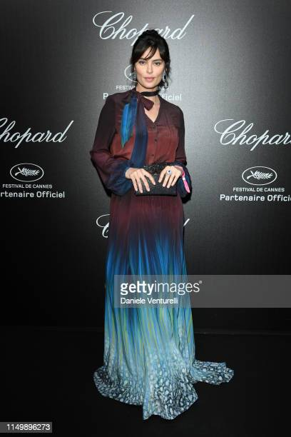 Catrinel Marlon attends the Chopard Love Night photocall on May 17 2019 in Cannes France