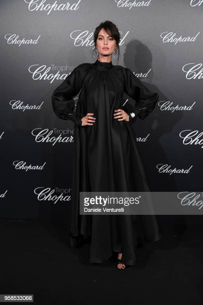 Catrinel Marlon attends the Chopard Trophy during the 71st annual Cannes Film Festival at Martinez Hotel on May 14 2018 in Cannes France