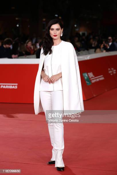 Catrinel Marlon attends the Downton Abbey red carpet during the 14th Rome Film Festival on October 19 2019 in Rome Italy