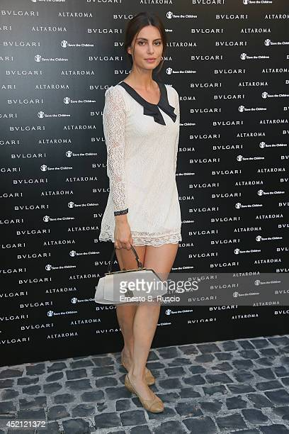 Catrinel Marlon attends the 'Isabella Ferrari Forma/Luce' cocktail party at Horti Sallustiani on July 13, 2014 in Rome, Italy.