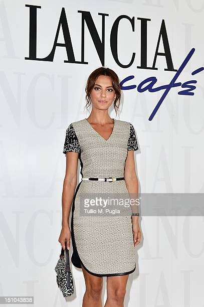 Catrinel Marlon attends the Lancia Cafe during the 69th Venice Film Festival on August 31 2012 in Venice Italy