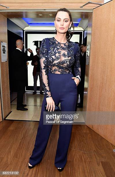 Catrinel Marlon attends the L'Oreal Paris Blue Obsession Party at the annual 69th Cannes Film Festival at Hotel Martinez on May 18 2016 in Cannes...