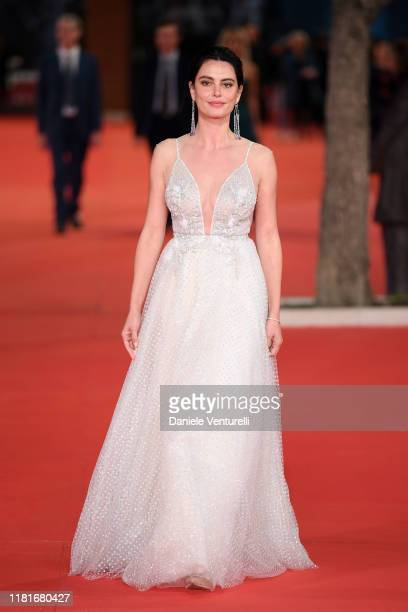 Catrinel Marlon attends the Motherless Brooklyn red carpet during the 14th Rome Film Festival on October 17 2019 in Rome Italy