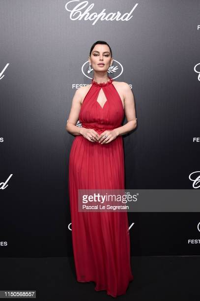Catrinel Marlon attends the Official Trophee Chopard Dinner Photocall as part of the 72nd Cannes International Film Festival on May 20 2019 in Cannes...