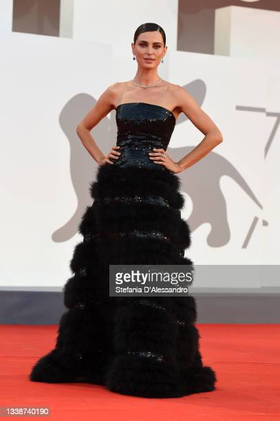 """Catrinel Marlon attends the red carpet of the movie """"La Caja"""" during the 78th Venice International Film Festival on September 06, 2021 in Venice,..."""