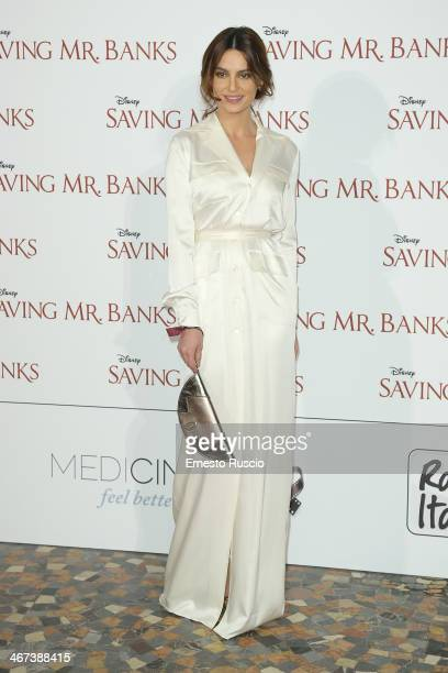 Catrinel Marlon attends the 'Saving Mr Banks' premiere at The Space Moderno on February 6 2014 in Rome Italy