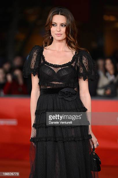 Catrinel Marlon attends the 'The Motel Life' Premiere during the 7th Rome Film Festival at Auditorium Parco Della Musica on November 16 2012 in Rome...