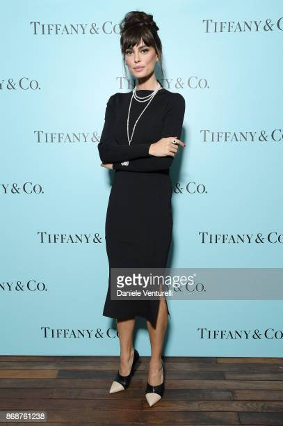 Catrinel Marlon attends Tiffany Co Gala Dinner for 'Please Stand By' movie at Hotel Bernini on October 31 2017 in Rome Italy