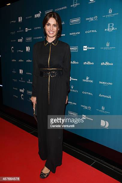 Catrinel Marlon attends Un'Altra Storia Charity Event Benefiting Doppia Difesa Arrivals during the 9th Rome Film Festival at Capitol Club on October...