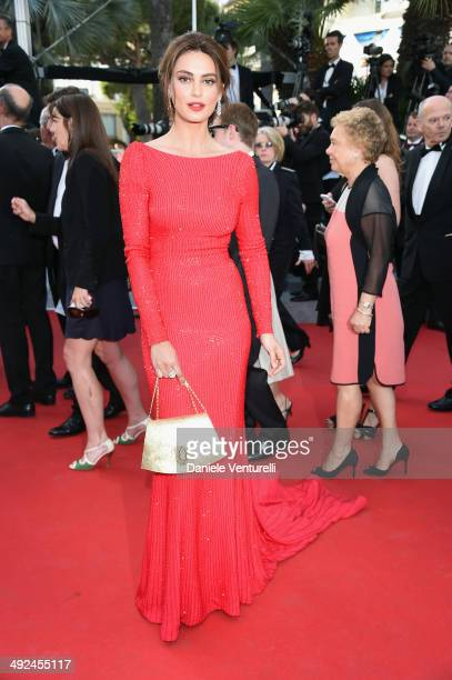 Catrinel Marlon attends Voce Umana Premiere during the 67th Annual Cannes Film Festival on May 20 2014 in Cannes France