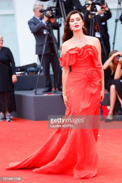 Catrinel Marlon walks the red carpet ahead of the closing ceremony of the 76th Venice Film Festival at Sala Grande on September 07 2019 in Venice...