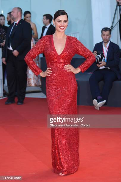 Catrinel Marlon walks the red carpet ahead of the Lan Xin Da Ju Yuan screening during the 76th Venice Film Festival at Sala Grande on September 04...