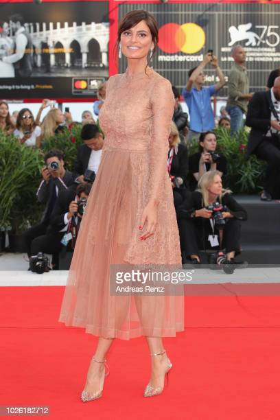 Catrinel Marlon walks the red carpet ahead of the 'The Sisters Brothers' screening during the 75th Venice Film Festival at Sala Grande on September 2...