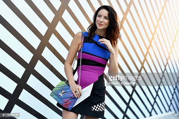 Catriona Balfe attends the Louis Vuitton show as part of the Paris Fashion Week Womenswear Spring/Summer 2017 on October 5 2016 in Paris France