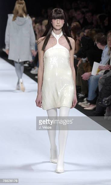 Catriona Balfe in Marc Jacobs Fall 2003 Fashion at the New York State Armory in New York City New York