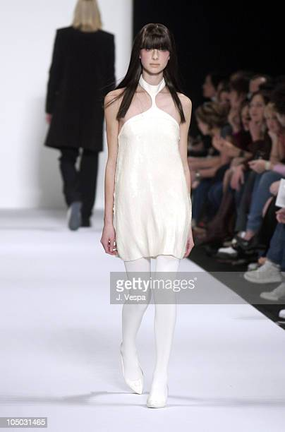 Catriona Balfe in Marc Jacobs Fall 2003 Fashion during MercedesBenz Fashion Week Fall 2003 Collection Marc Jacobs Runway at New York State Armory in...