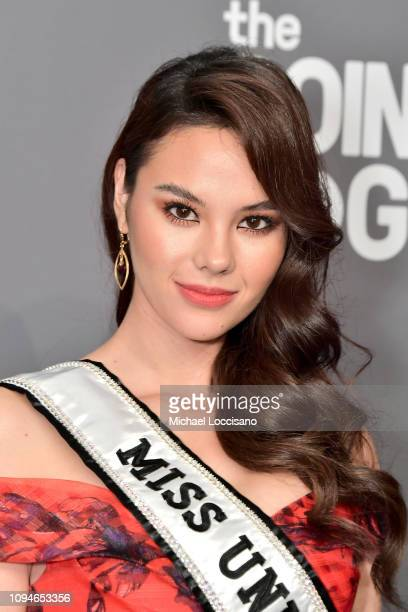 Catriona Gray attends the amfAR New York Gala 2019 at Cipriani Wall Street on February 6 2019 in New York City