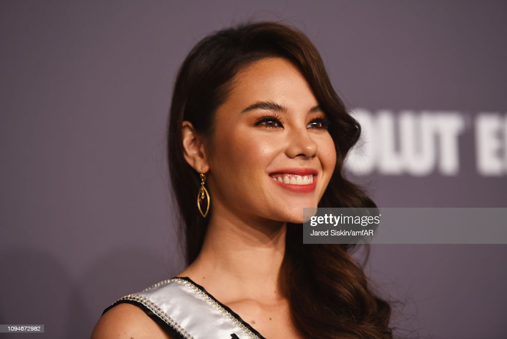 miss universe 2018 durante amfar gala new york 2019. Catriona-gray-attends-the-amfar-new-york-gala-2019-at-cipriani-wall-picture-id1094672982