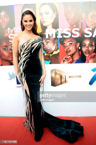 Catriona Gray during the Miss South Africa 2019 beauty pageant grand finale at the Time Square Sun Arena on August 09 2019 in Pretoria South Africa...