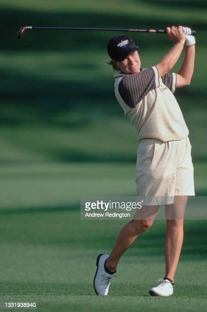 Catriona Matthew of Scotland drives off the tee during the 28th edition of the Nabisco Dinah Shore golf tournament on 27th March 1999 at the Mission...