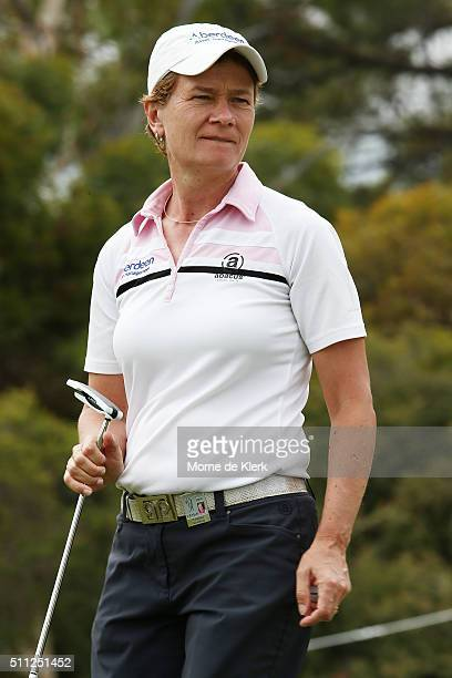 Catriona Matthew of Scotland looks on during day two of the ISPS Handa Women's Australian Open at The Grange GC on February 19 2016 in Adelaide...