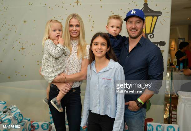 Catriona McGinn MarkPaul Gosselaar and family at the 7th Annual Santa's Secret Workshop benefiting LA Family Housing at Andaz on December 2 2017 in...