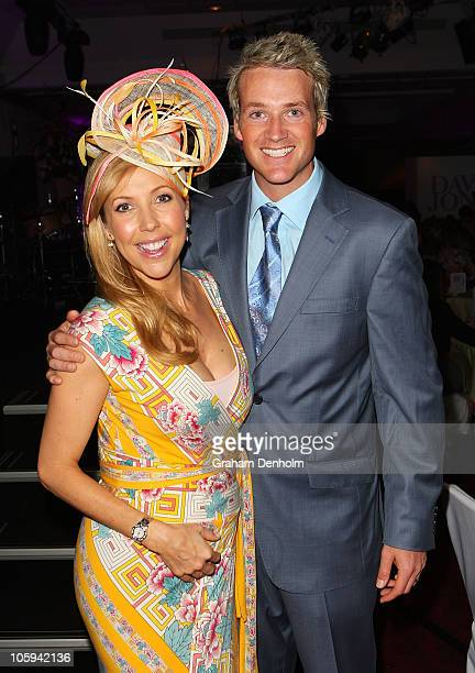 Catriona Rowntree and Jules Lund attend the David Jones Ladies' Fashion Luncheon ahead of the Spring Racing Carnival on October 22 2010 in Melbourne...