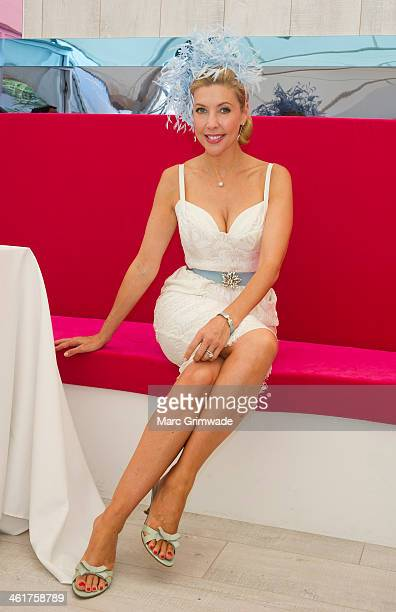 Catriona Rowntree attends Magic Millions Race Day on January 11 2014 in Gold Coast Australia