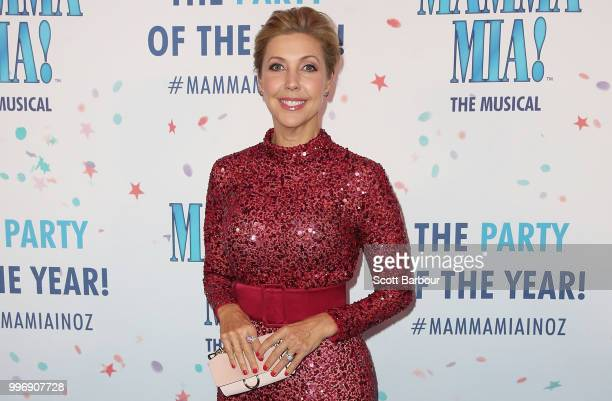 Catriona Rowntree attends opening night of Mamma Mia The Musical at Princess Theatre on July 12 2018 in Melbourne Australia