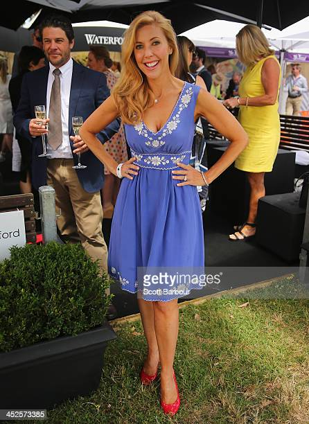 Catriona Rowntree attends Paspaley Polo in the City at Albert Park on November 30 2013 in Melbourne Australia