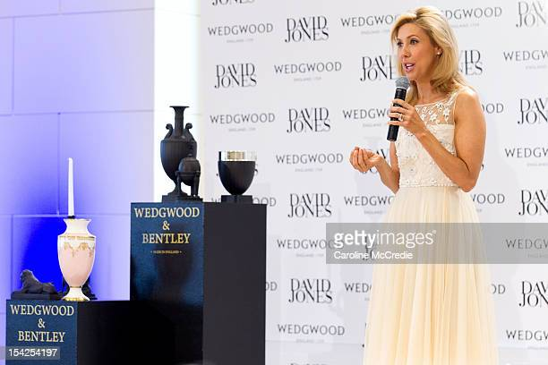 Catriona Rowntree attends the David Jones High Tea With Lord Wedgwood on October 17 2012 in Sydney Australia