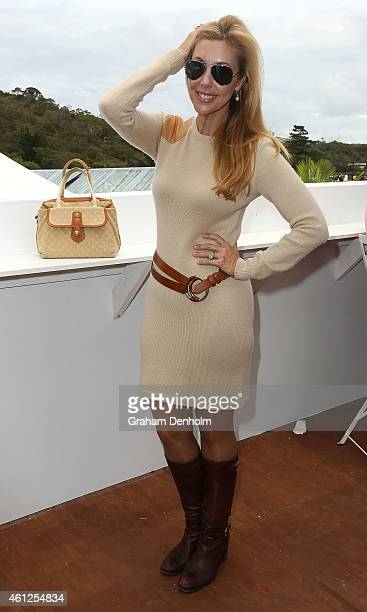Catriona Rowntree attends the Portsea Polo event at Point Nepean Quarantine Station on January 10 2015 in Melbourne Australia