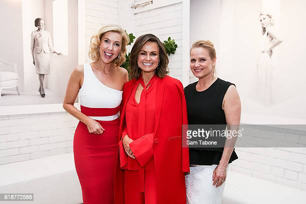 Catriona RowntreeLisa Wilkinson and Shaynna Blaze arrives ahead of Lisa Wilkinson's 'Women of Influence' photographic exhibition at SmartArtz Gallery...