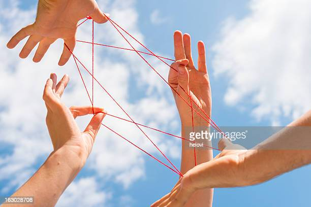 cats cradle - talent stockfoto's en -beelden