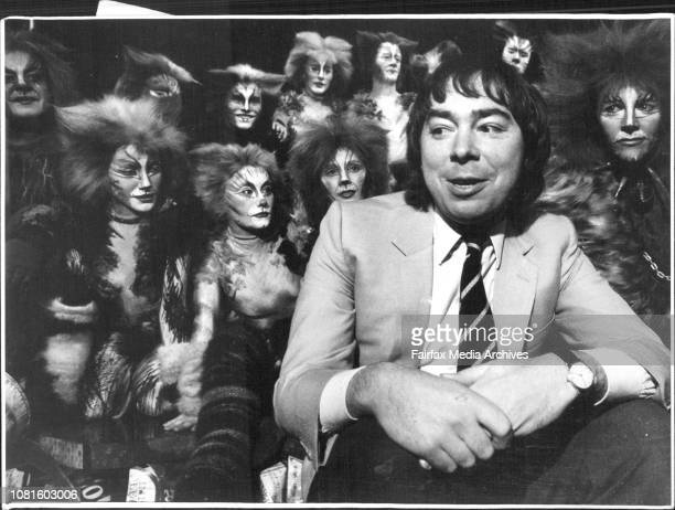Cats Debbie Byrne Jeff Phillips And Reww Lloyd Webber and Cast July 25 1985