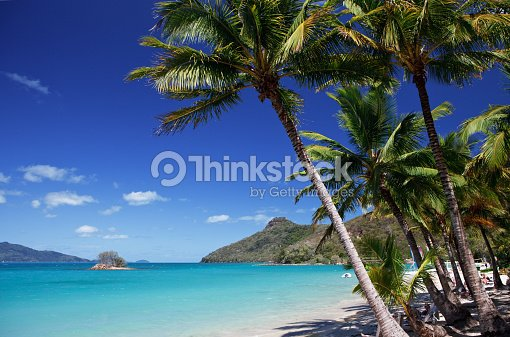 Catseye Beach On Hamilton Island In The Whitsundays Stock Photo