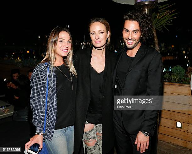 Catt Sadler and Joey Maalouf attend the FabFitFun and Joey Maalouf's ISH Launch Party at Above SIXTY Beverly Hills on March 3 2016 in Beverly Hills...